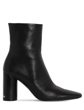 90 Mm Oval Leather Ankle Boots by Balenciaga