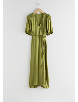 Puff Sleeve Maxi Wrap Dress by & Other Stories