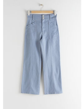 Topstitch Workwear Trousers by & Other Stories
