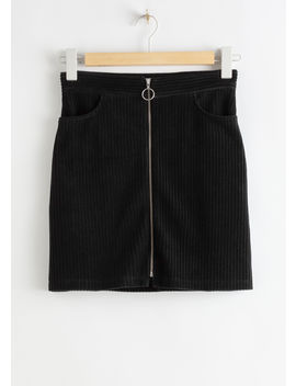 Corduroy O Ring Zip Mini Skirt by & Other Stories