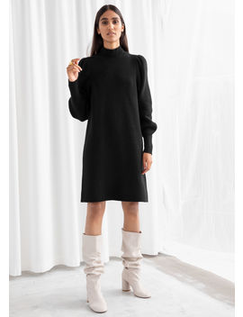 Mock Neck Ribbed Mini Dress by & Other Stories