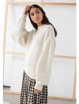 Chunky Ribbed Puff Sleeve Sweater by & Other Stories