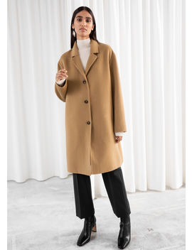 Relaxed Wool Blend Coat by & Other Stories