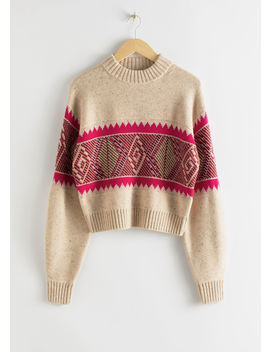 Diamond Knit Wool Blend Sweater by & Other Stories