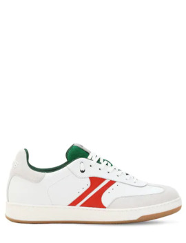 Green Blaze Leather Sneakers by Am318