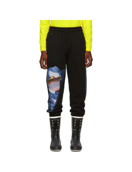 Black Valentino Edition V Face Ufo Print Lounge Pants by Undercover