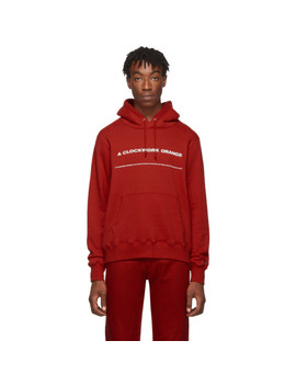 Red A Clockwork Orange Edition Print Hoodie by Undercover