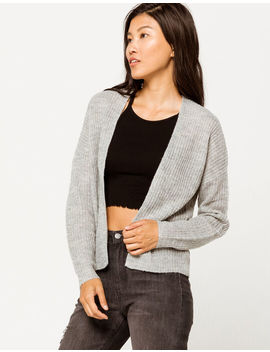 Full Tilt Essential Heather Gray Womens Cardigan by Full Tilt