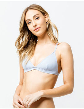 Full Tilt Basic Triangle Periwinkle Bralette by Full Tilt