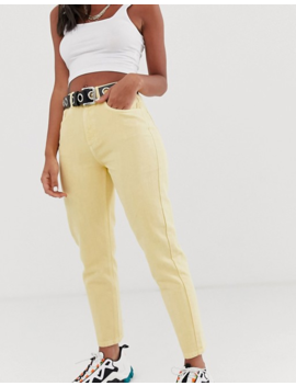 Reclaimed Vintage The '89 Slim Tapered Leg Jean In Antique Yellow Wash by Reclaimed Vintage