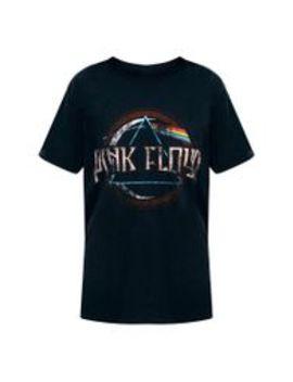 Pink Floyd Slogan Black T Shirt by Prettylittlething
