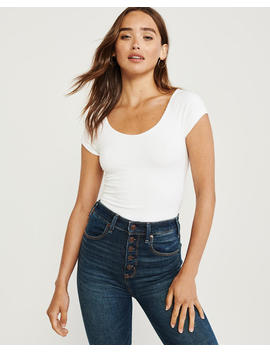 Short Sleeve Wrap Back Bodysuit by Abercrombie & Fitch