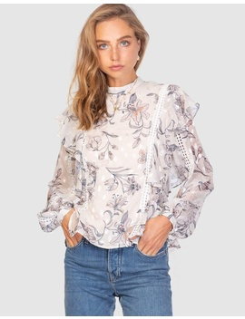Vintage Floral Demi Blouse by Three Of Something