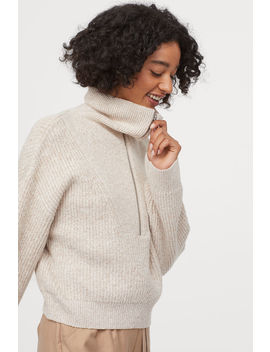 Rib Knit Jumper With A Collar by H&M