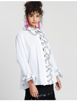 When Doves Cry Ruffle Shirt by Romance Was Born