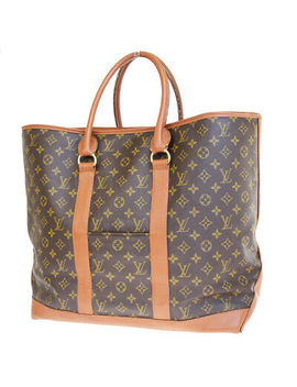 Authentic Louis Vuitton Sac Weekend Gm Shoulder Tote Bag Monogram M42420 37 E214 by Louis Vuitton