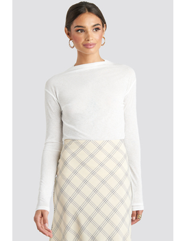 High Neck Basic Top White by Na Kd Trend