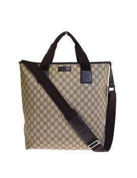 Authentic Gucci Gg Pattern 2 Way Shoulder Hand Tote Bag Pvc Leather Brown 30 Er936 by Gucci