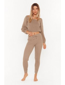 In A Com Knitted Relationship Jumper And Joggers Lounge Set by Nasty Gal
