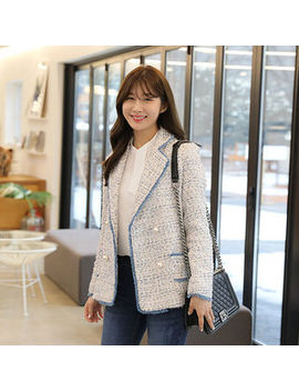 Click   Faux Pearl Tweed Jacket by Click