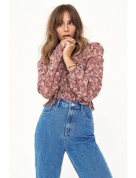 Shirr Universe Floral Blouse by Nasty Gal