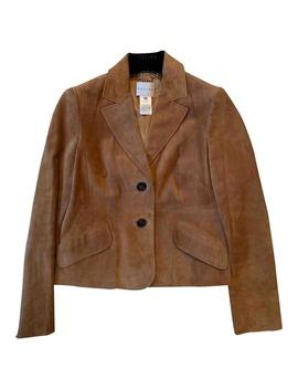 Camel Suede Jacket by Céline