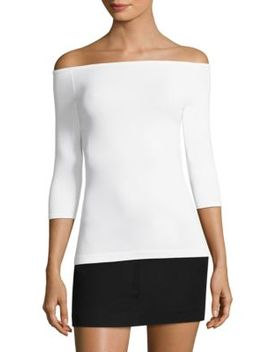 Off The Shoulder Seamless Tee by Helmut Lang