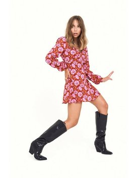 Groove Is In The Heart Floral Mini Dress by Nasty Gal