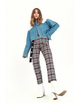 Tapered Love Check Pants by Nasty Gal
