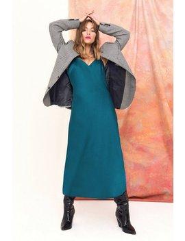 Power Slip Satin Midi Dress by Nasty Gal