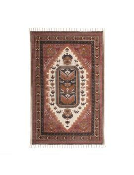 Charcoal And Blush Persian Style Chenille Alok Area Rug by World Market