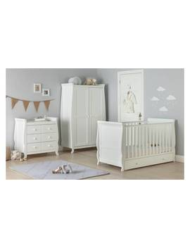 Cuggl Westbury 3 Piece White Nursery Furniture Set by Argos