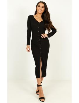 By The Bonfire Dress In Black Marle by Showpo Fashion