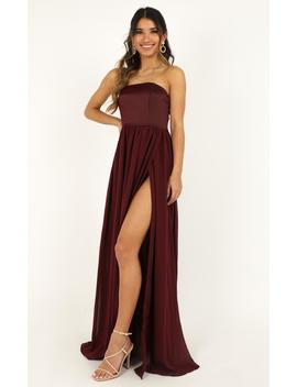 Love Bound Maxi Dress In Wine by Showpo Fashion