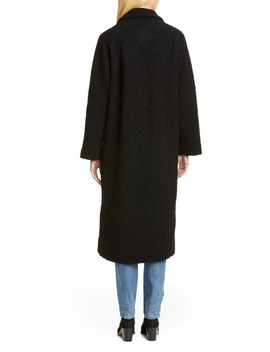Bouclé Wrap Coat by Ganni