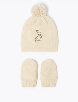 Peter Rabbit ™ Hat & Mitten Set by Marks & Spencer