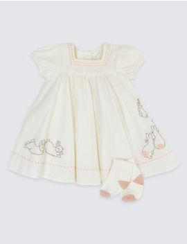 2 Piece Peter Rabbit™ Dress With Socks by Marks & Spencer