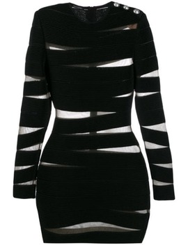 Schmales Kleid Mit Cut Out by Balmain