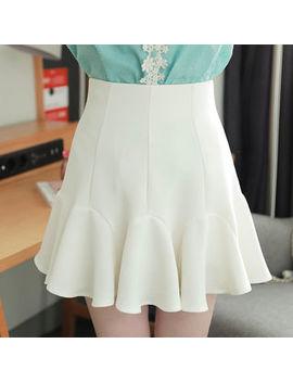 My Fiona   High Waist Mini Godet Skirt by My Fiona