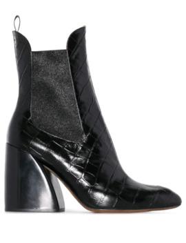 'wave' Chelsea Boots Mit Kroko Effekt by Chloé