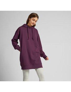 Women Sweat Long Sleeved Hoodie Dress by Uniqlo