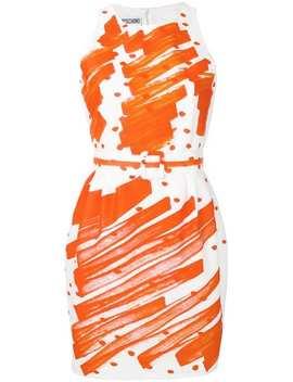 Kleid Mit Kritzel Print by Moschino