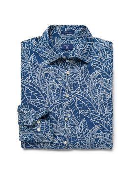Gant Slim Fit Indigo Leaf Print Shirt by Gant