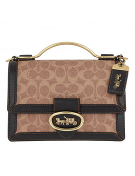Signature Riley Top Handle Tan Black by Coach