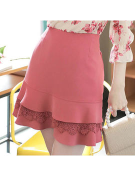 My Fiona   Inset Shorts Laced Ruffle Layered Skirt by My Fiona