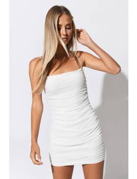 Break Free White Mesh Bodycon Dress by Tobi