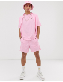 Polo Ralph Lauren Exclusive To Asos Oversized Multi Player Logo T Shirt In Light Pink by Polo Ralph Lauren