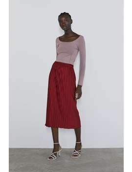 Pleated Skirt Midi Skirts Woman by Zara
