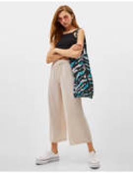 Ριχτό παντελόνι Culotte by Bershka
