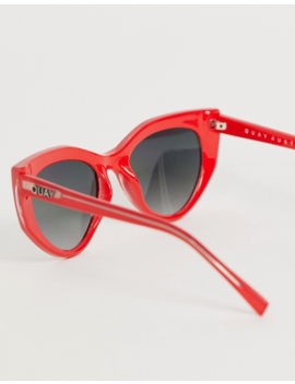 Quay Australia Persuasive Cat Eye Sunglasses In Red by Quay Eyeware